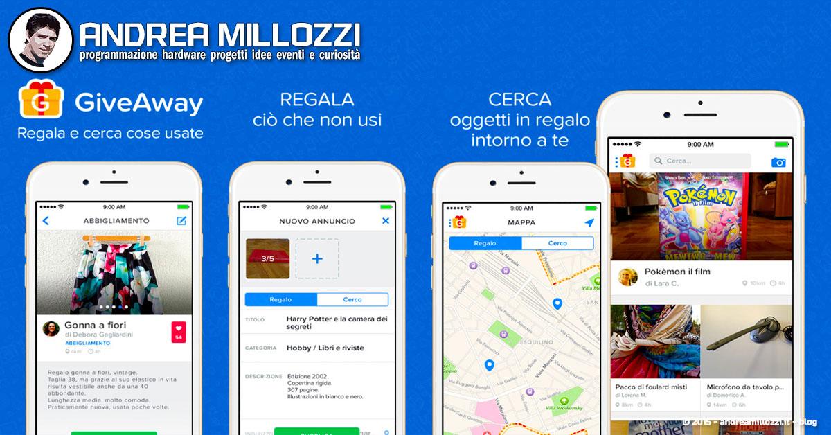 giveaway la migliore app per cercare e regalare oggetti