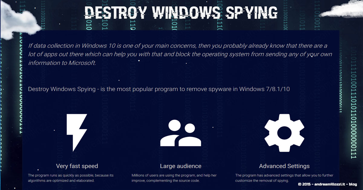 Andrea Millozzi blog | Microsoft Windows 10 | Destroy Windows Spying