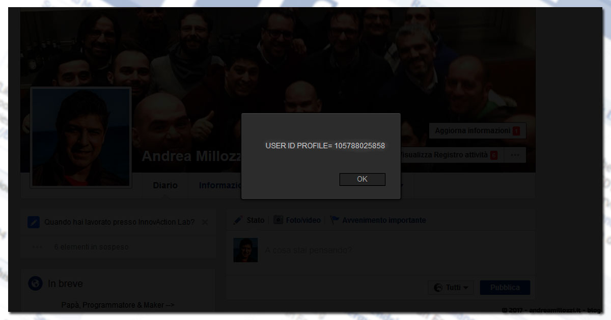 Andrea Millozzi blog | Secrets Revealer (for Facebook™) | scopri tutte le informazioni segrete che ti riguardano presenti su Facebook, con questo Add-on gratuito per Firefox e Chrome | Reveals User ID Profile