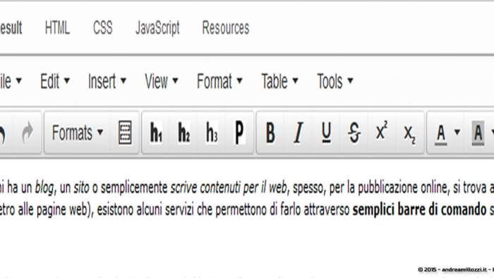 Andrea Millozzi blog: [RISOLTO] Editor online WYSIWYG gratuito e personalizzabile per scrivere gli articoli del tuo blog - editor online