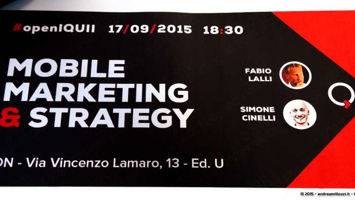 Andrea Millozzi blog - IQUII: Mobile Marketing & Strategy - locandina