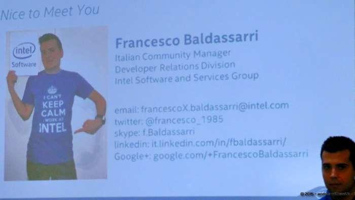 Andrea Millozzi blog - Intel® RealSense™ 3D Hands-on Lab Roma 2015: la tecnologia del futuro è a portata di webcam - Francesco Baldassarri