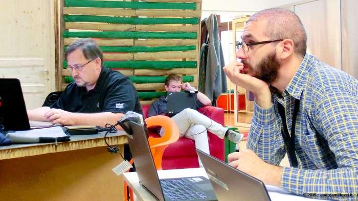 Andrea Millozzi blog - Intel® RealSense™ 3D Hands-on Lab Roma 2015: la tecnologia del futuro è a portata di webcam - partecipanti