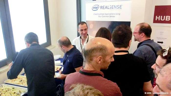 Andrea Millozzi blog - Intel® RealSense™ 3D Hands-on Lab Roma 2015: la tecnologia del futuro è a portata di webcam - pausa pranzo