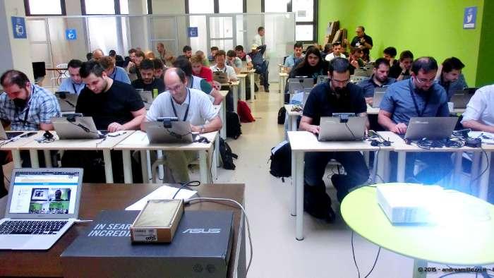 Andrea Millozzi blog - Intel® RealSense™ 3D Hands-on Lab Roma 2015: la tecnologia del futuro è a portata di webcam - partecipanti in gara