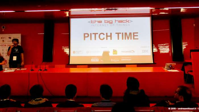 Andrea Millozzi blog - Hackathon: The Big Hack, Maker Faire Roma 2015 - pitch time