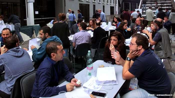 Andrea Millozzi blog - Hackathon: The Big Hack, Maker Faire Roma 2015 - momento di pausa