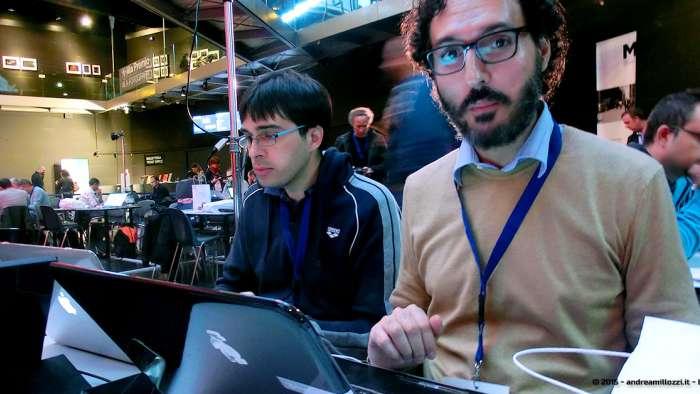 Andrea Millozzi blog - Hackathon: The Big Hack, Maker Faire Roma 2015 - Alessandro Conti e Serafino Sorleti