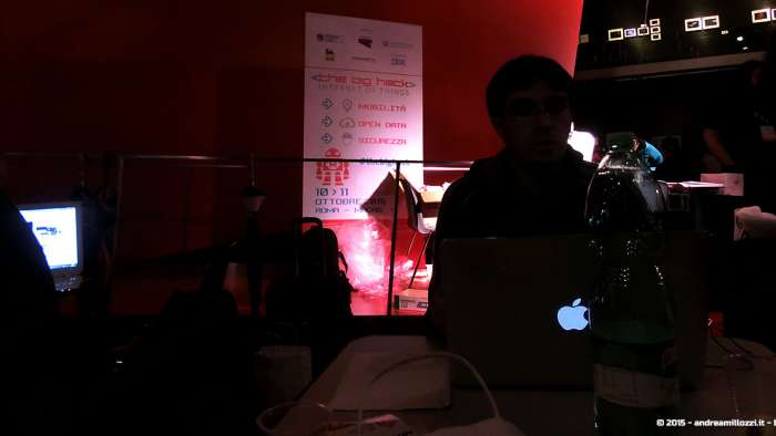 Andrea Millozzi blog - Hackathon: The Big Hack, Maker Faire Roma 2015 - al lavoro