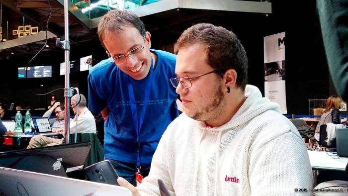 Andrea Millozzi blog - Hackathon: The Big Hack, Maker Faire Roma 2015 - Luca Alulli e Alessandro Francia
