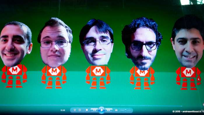 Andrea Millozzi blog - Hackathon: The Big Hack, Maker Faire Roma 2015 - moviTe team, Antonino Orlando, Alessandro Francia, Andrea Millozzi, Serafino Sorleti, Alessandro Conti