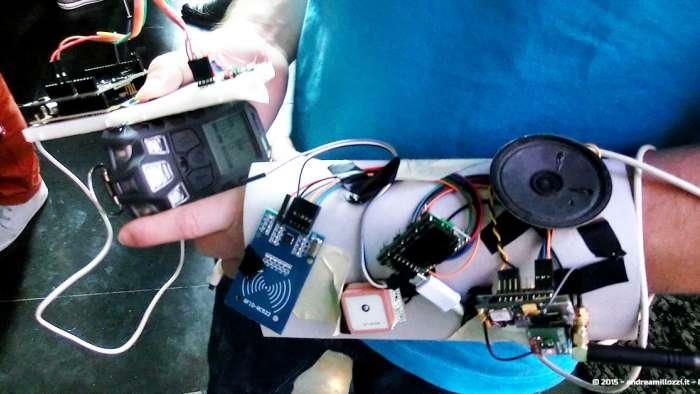 Andrea Millozzi blog - Hackathon: The Big Hack, Maker Faire Roma 2015 - dettaglio invenzione