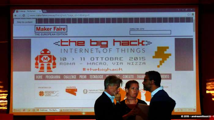 Andrea Millozzi blog - Hackathon: The Big Hack, Maker Faire Roma 2015 - la giuria decide i nomi