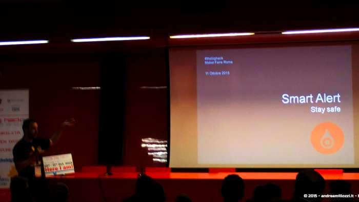 Andrea Millozzi blog - Hackathon: The Big Hack, Maker Faire Roma 2015 - Smart Alert
