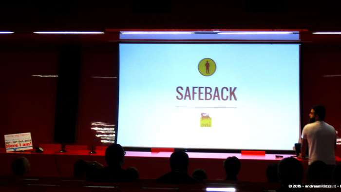 Andrea Millozzi blog - Hackathon: The Big Hack, Maker Faire Roma 2015 - Safe Back