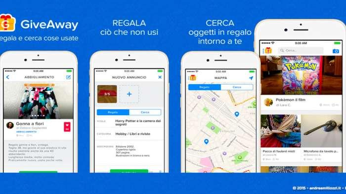 Andrea Millozzi blog - GiveAway: la migliore App per cercare e regalare oggetti usati - come si presenta l'App