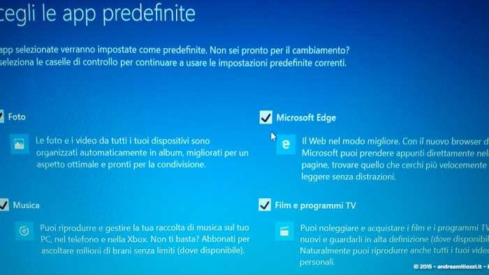 Andrea Millozzi blog - Microsoft Windows 10: consigli per difendere la privacy e vivere tranquilli - scelta App predefinite