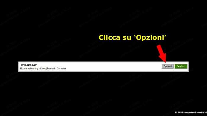 Andrea Millozzi blog | Godaddy: migrazione domini gratuiti, tutorial passo passo | passaggio 3