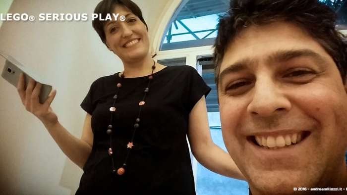 Andrea Millozzi blog | Lego Serious Play: il problem solving collaborativo per effettuare il brain storming e facilitare il team building giocando | io e Paola
