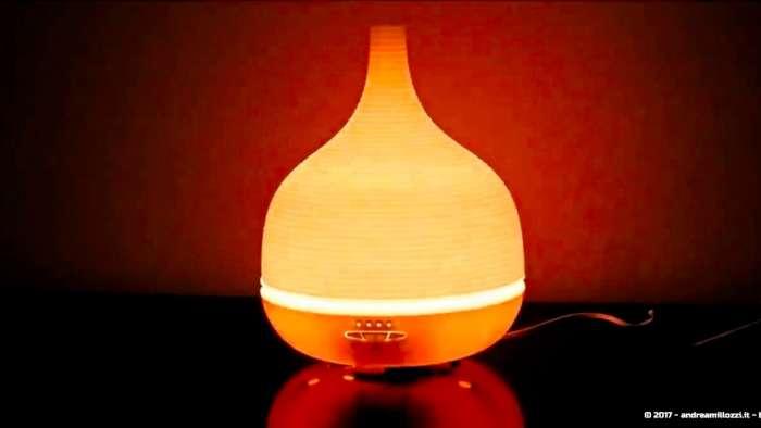 Andrea Millozzi blog | Diffusore per aromi ad ultrasuoni e lampada a LED: dispositivo a basso costo utile per umidificare, come ausilio per la cromoterapia e per i momenti di relax
