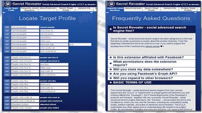 Andrea Millozzi blog | Social Network: si stanno occupando dei tuoi dati personali a tua insaputa, la buona notizia è che proteggere la privacy è facile come installare un'estensione per il browser | Secret Revealer 4