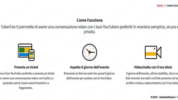 Andrea Millozzi blog | TuberFan: la startup made in Italy che permette ai Fan di videochattare con i loro YouTuber preferiti | come funziona