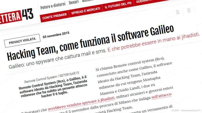 Andrea Millozzi blog | Internet e big data: la difesa della privacy passa per la consapevolezza e per l'uso degli strumenti giusti | Hacking Team Galileo