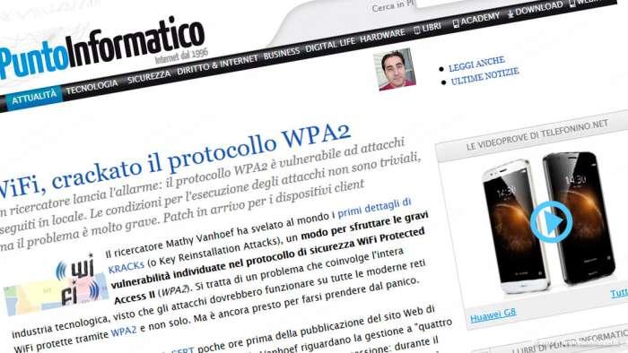 Andrea Millozzi blog | Internet e big data: la difesa della privacy passa per la consapevolezza e per l'uso degli strumenti giusti | WPA2 KRACKs