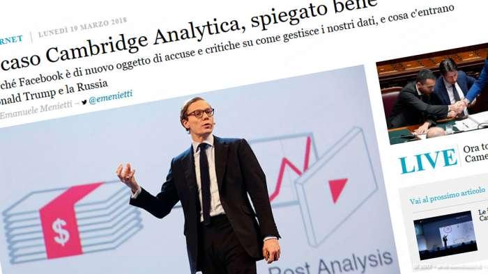 Andrea Millozzi blog | Internet e big data: la difesa della privacy passa per la consapevolezza e per l'uso degli strumenti giusti | Cambridge Analytica