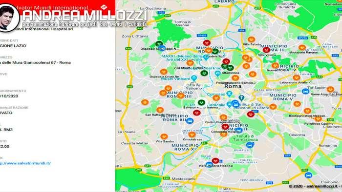 Covid-19 | Mappa dei tamponi antigenici (rapidi) e dei drive-in per i tamponi molecolari a Roma | 02