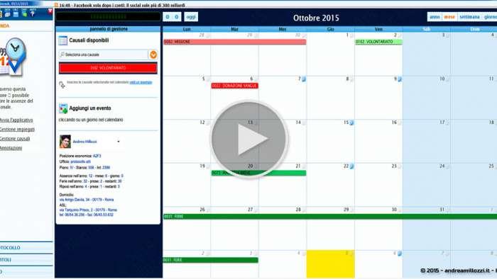 Andrea Millozzi blog - Applicativo: agenda per ufficio realizzata in HTML5, CSS3 e jQuery + FullCalendar - agenda