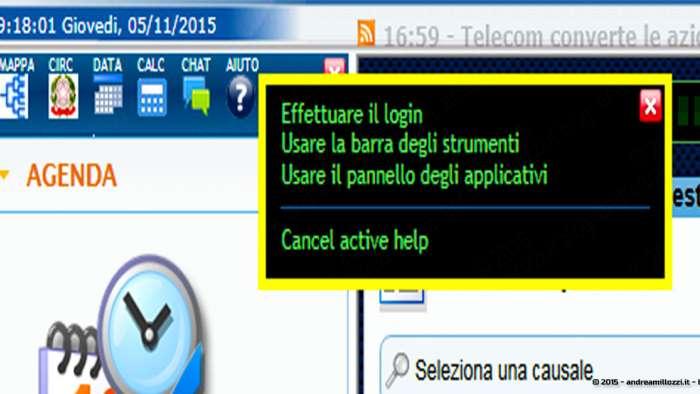 Andrea Millozzi blog - Applicativo: agenda per ufficio realizzata in HTML5, CSS3 e jQuery + FullCalendar - dettaglio sezione help