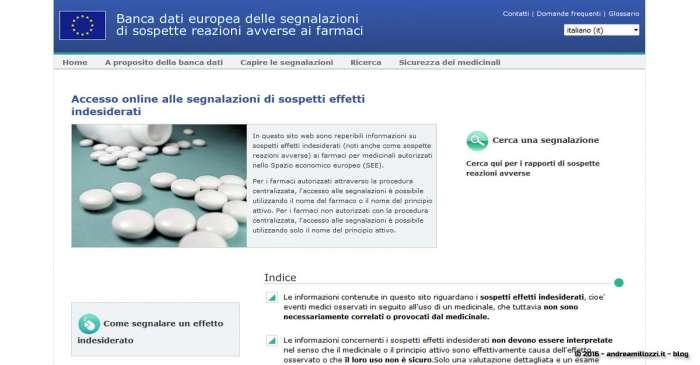Andrea Millozzi blog - Vaccini e reazioni avverse: l'Agenzia europea per i medicinali rende pubbliche le segnalazioni dei sospetti effetti indesiderati