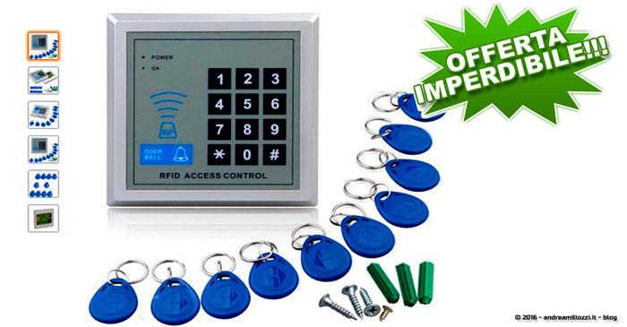 Andrea Millozzi blog | Istruzioni in video: RFID centralina lettore di prossimità più 10 chiavi per porta in offerta su Amazon