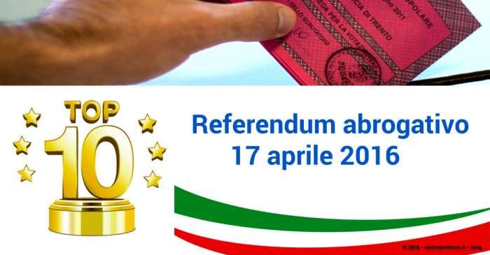 Andrea Millozzi blog | Referendum 17 aprile 2016: TOP 10 affluenza dati definitivi