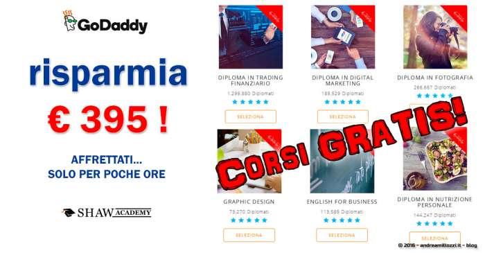 Andrea Millozzi blog | Risparmia 395 euro: tanti corsi online gratuiti disponibili per un tempo limitato, affrettati!